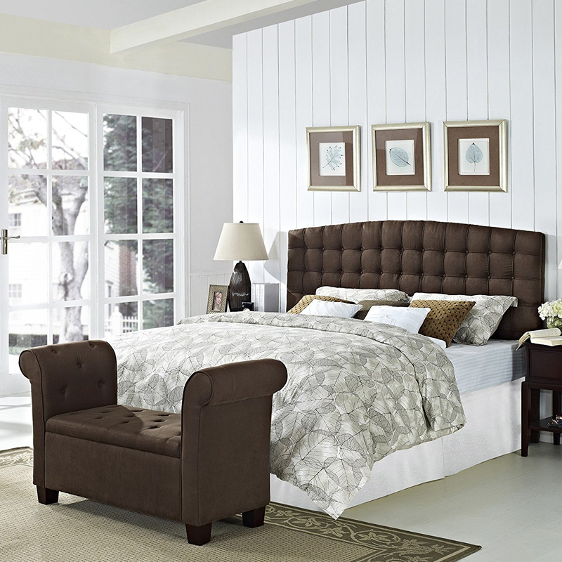 bedroom upholstered headboard modern style king size fabric bed sets