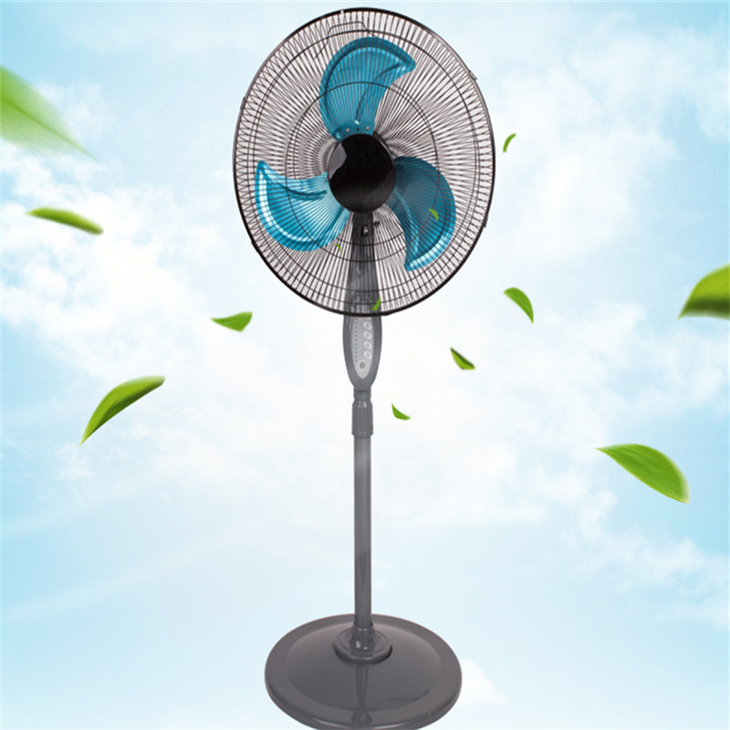 Remote Control 16 inch Metal Blade Pedestal Fan With Timer Ventilation Fan