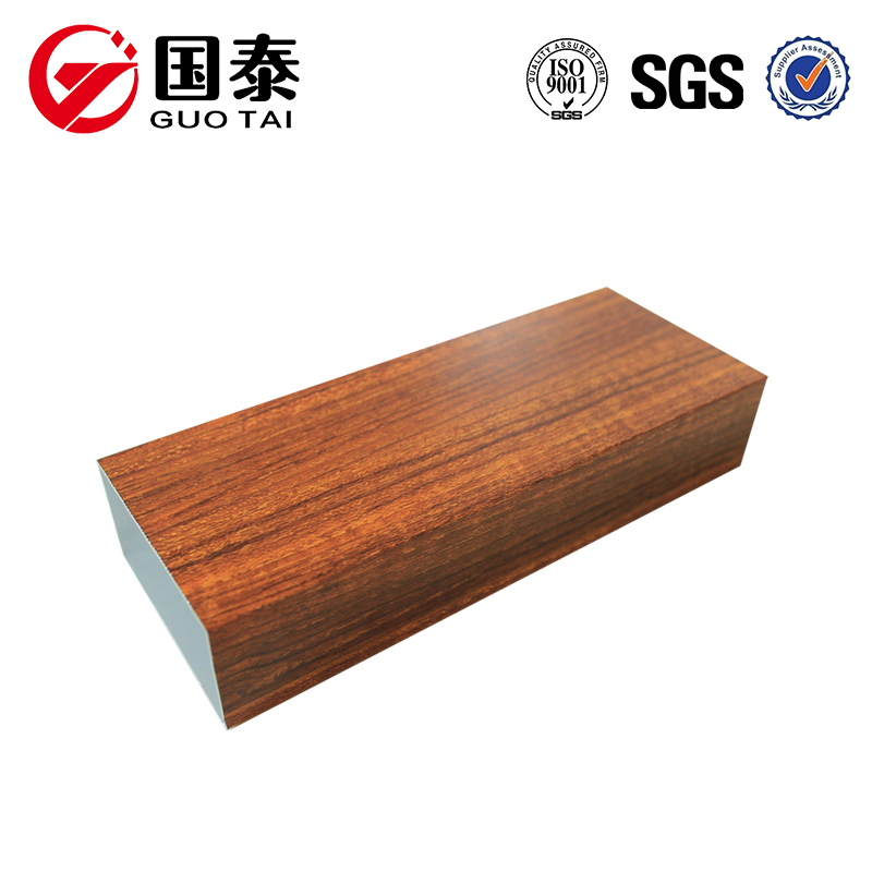 Wood grain transfer aluminum alloy profile