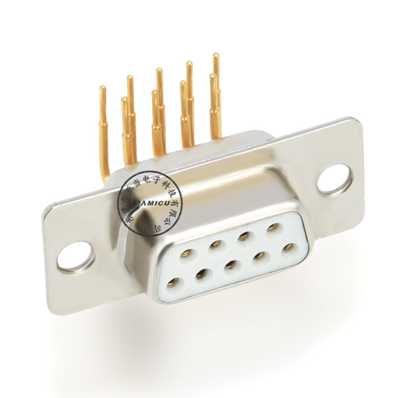 d type 9 pin d-sub female 90 degree electrical connector