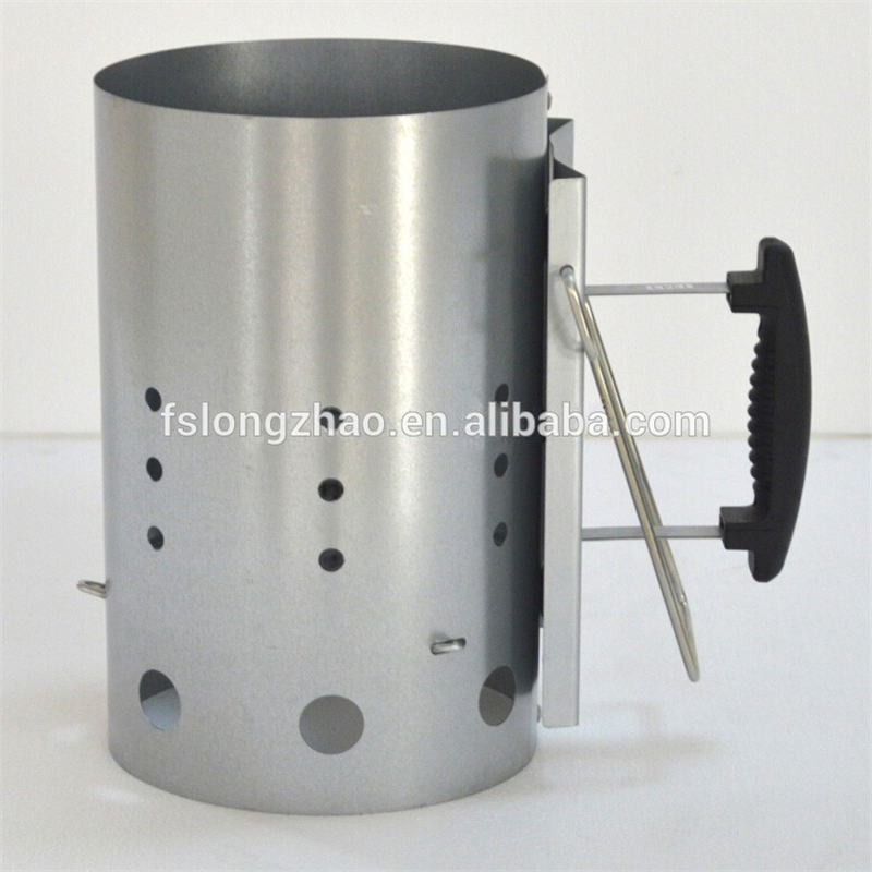 BBQ accessories Charcoal chimney starter with Black painted