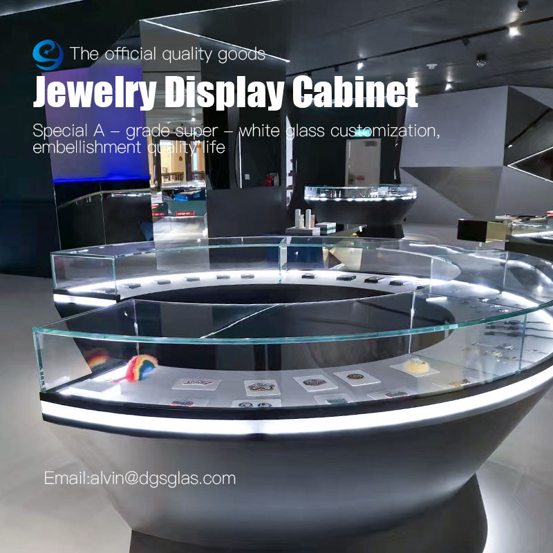 Customize jewelry display set luxury display cabinet and showcase for jewelry shop