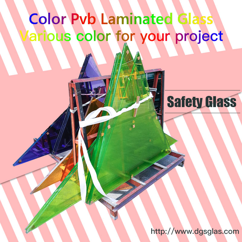 China 6.38mm 8.38mm Clear or Colored tempered Laminated Glass price for Building Construction Applications