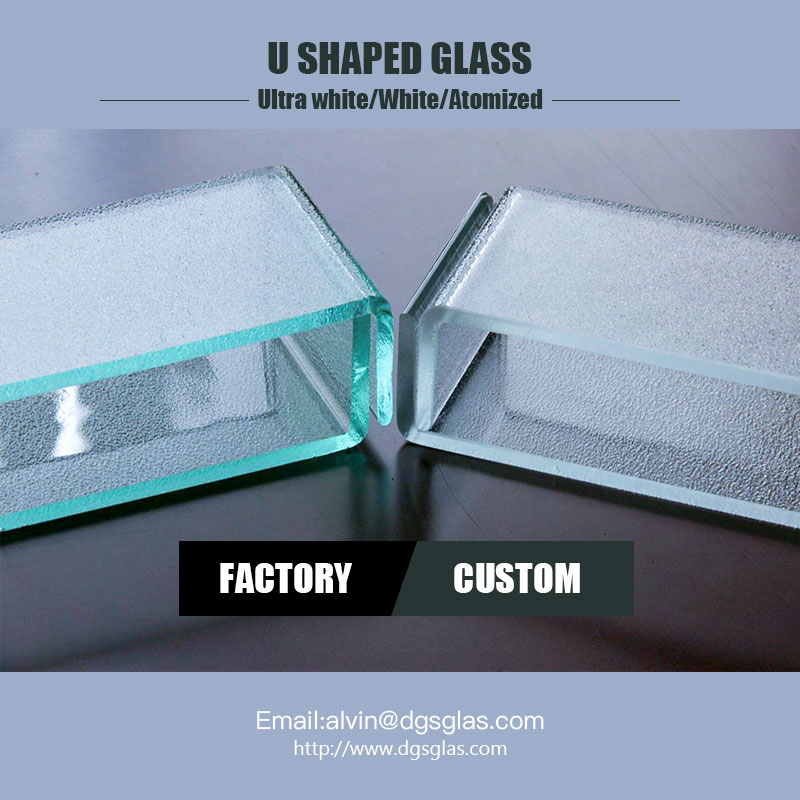 Light weight new building material l translucent U shaped channel profile glass price