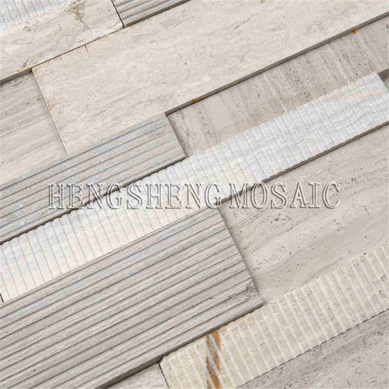 Low Price Strip Art Mosaic Tile With Ceramic Mix Natural Stone glass ...