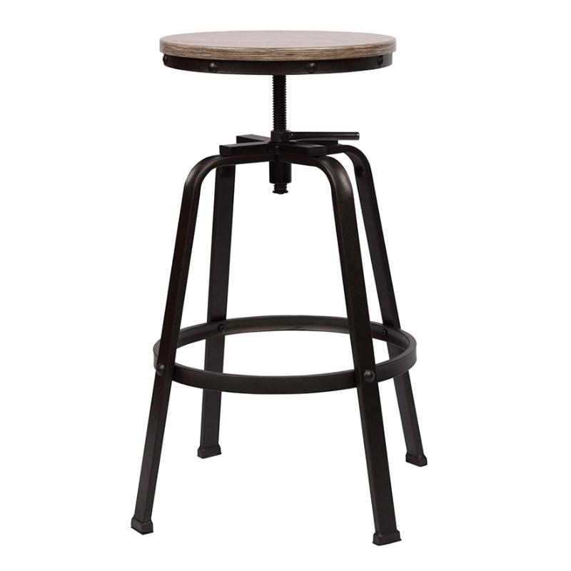 Backless Barstool Adjustable Height Swivel Bar Chair Set of 2