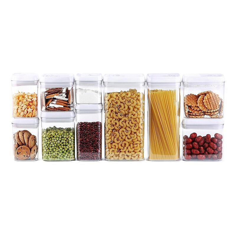 10-Piece Airtight Food Storage Container Set Multiple Size Included Kitchen Usage