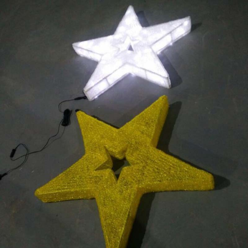 LED Star Christmas Decorations Warm White LED Lights Stars
