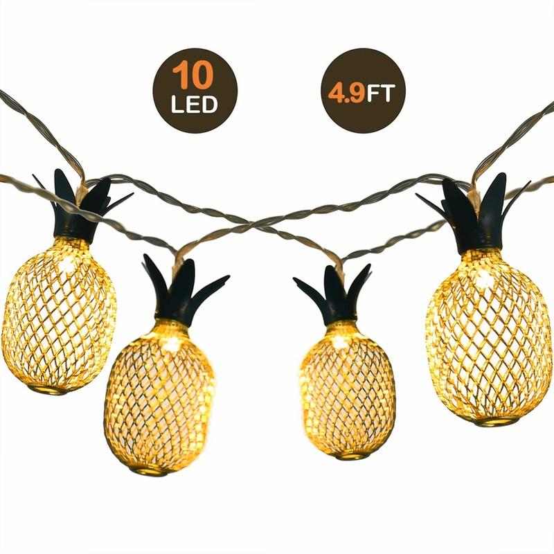 LED 灯串 10LED Warm White Pineapple String Light