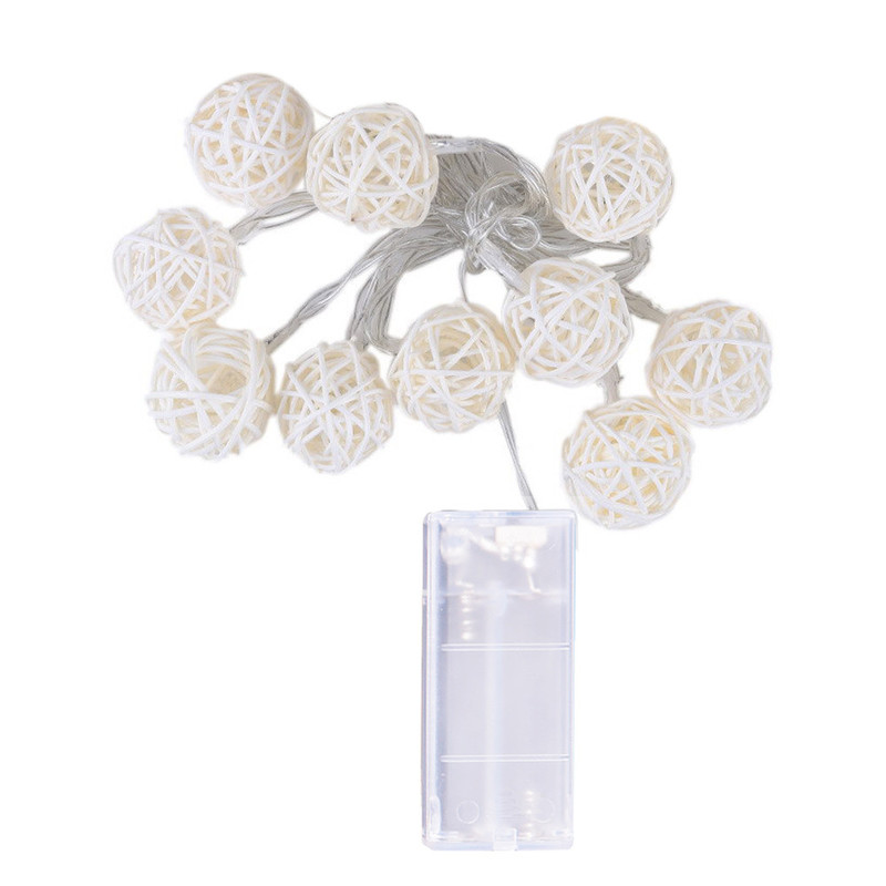 10 LED string lights 1.2M Fairy tale garland powered outdoor Warm white For Xmas festival wedding party decoration