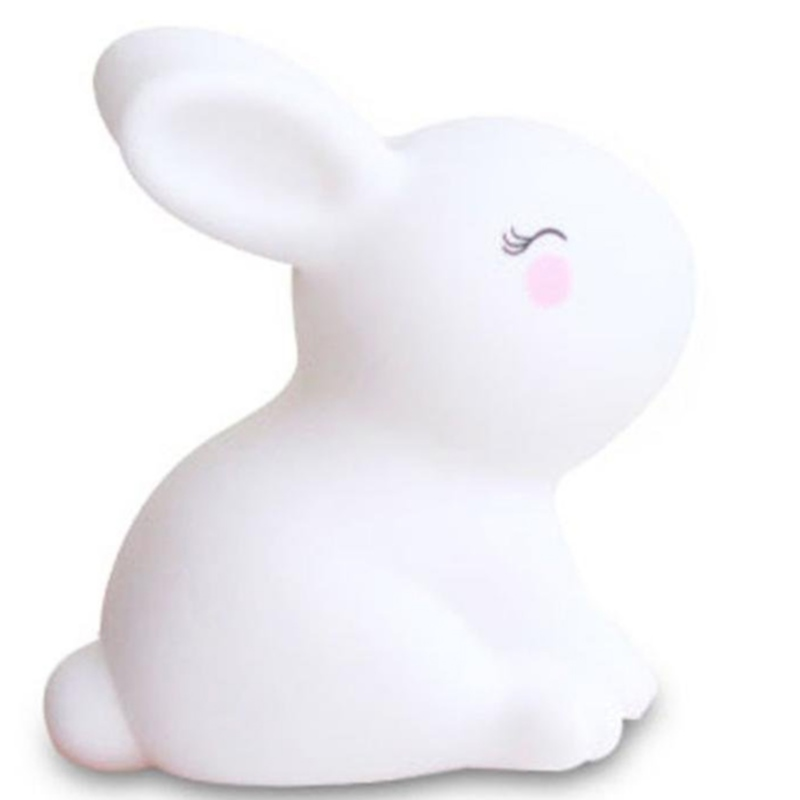 Keep out glue small white rabbit night lamp toy decoration