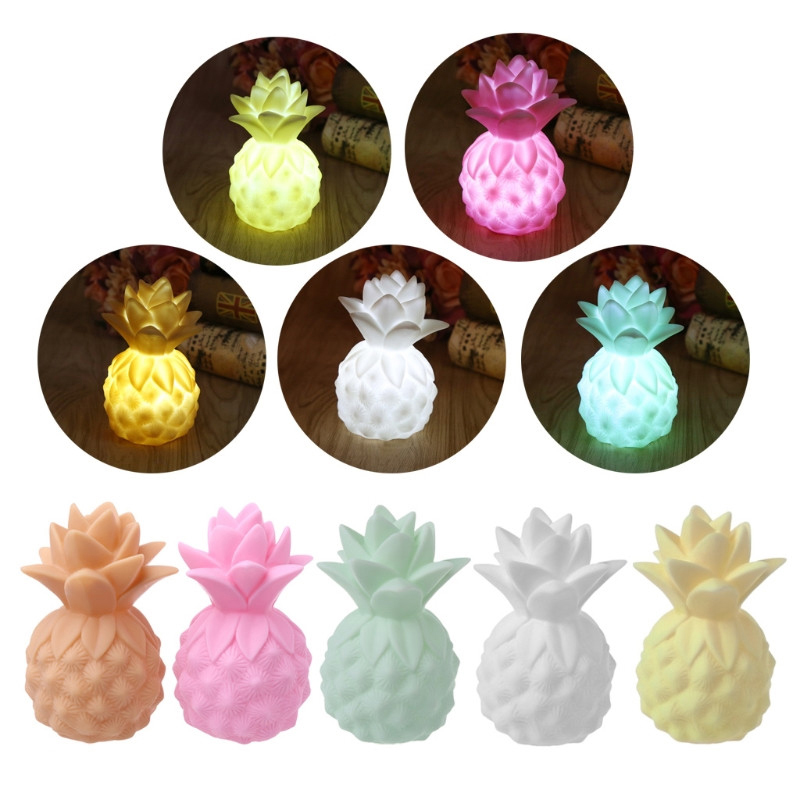 LED vinyl pineapple game props LED night light table bedroom decorative baby headlamp children's lighting toy gift
