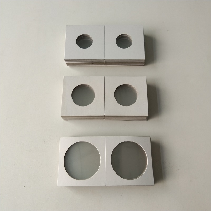 2X2 Cardboard Paper Coin Holders Flips