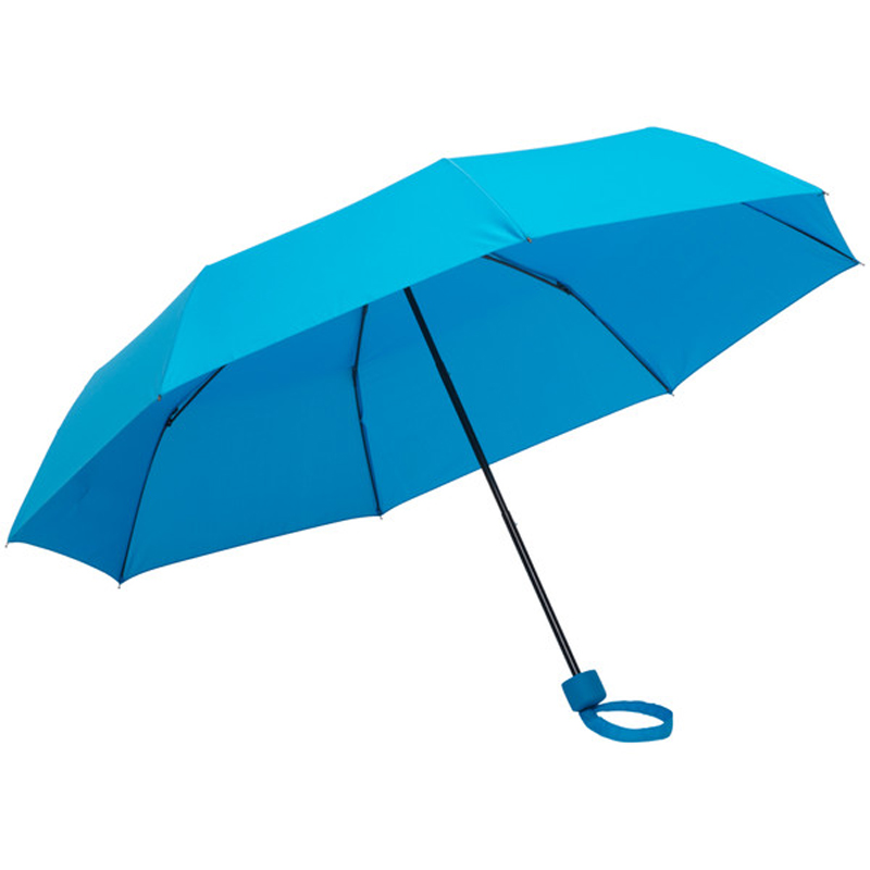 Chinese supplier full color custom pongee fabric metal frame manual open 3 fordable umbrella