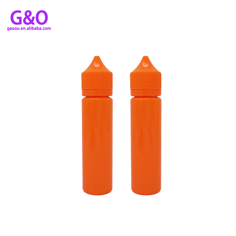 pet eliquid bottle vape eliquid plastic bottle 60ml orange color new chubby gorilla e cig liquid plastic dropper bottles