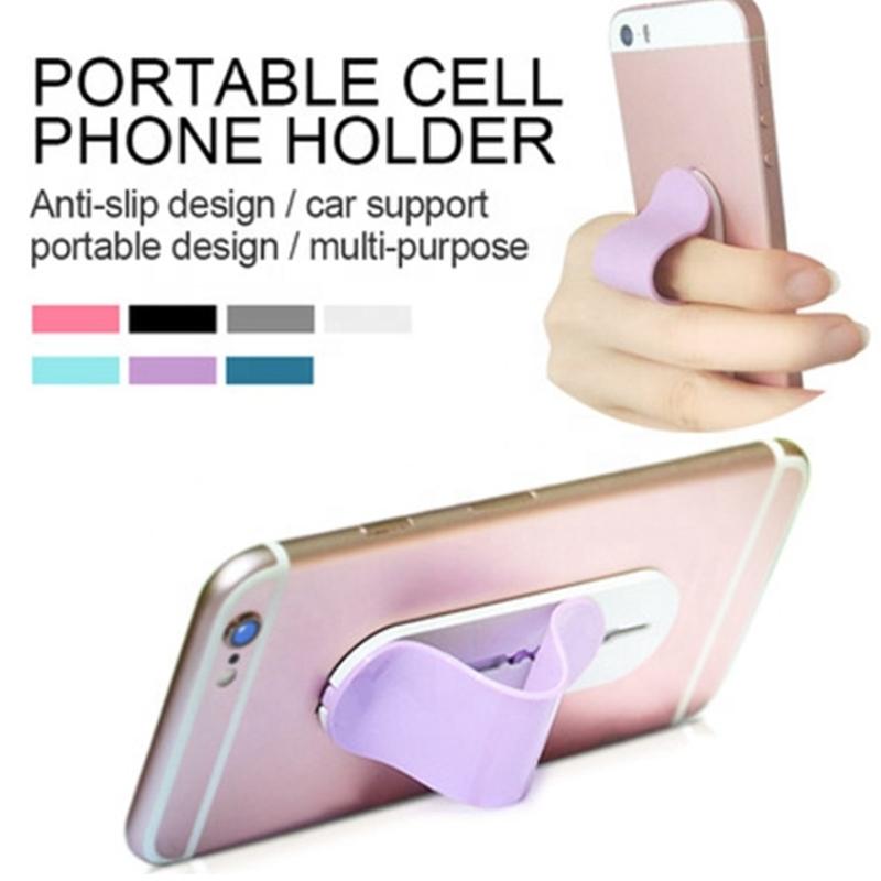 Magic Sticker Phone Holder For iPhone X 8 7 6 6s Plus  flexible phone holder  Finger Ring Holder push and pull phone holder