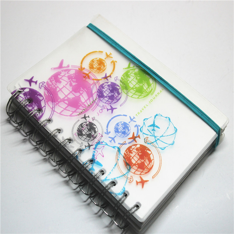 Plastic Cover Ring Binder Note Book with elastic band
