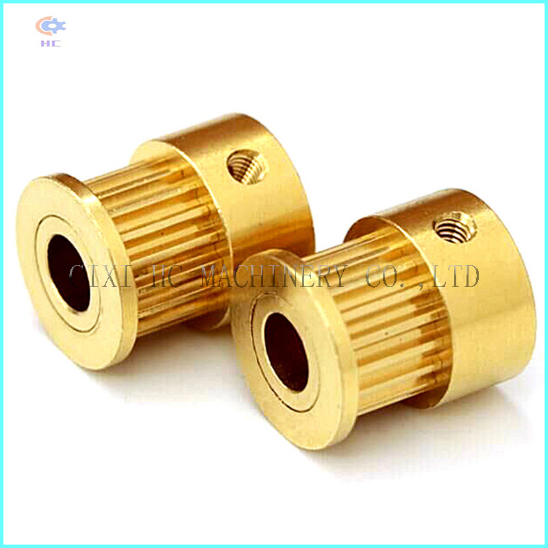 Small CNC Machining Brass Timing Belt Pulley
