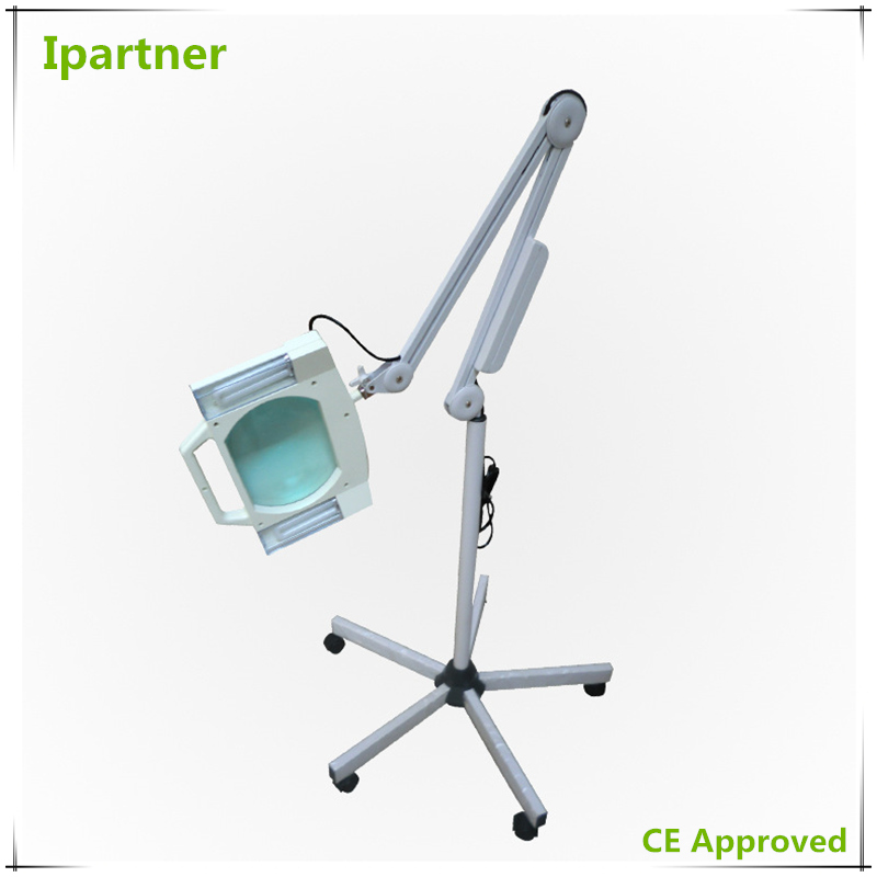 Ipartner Hot selling Cosmetic magnifying lamp for skin testing with cool light Square glass