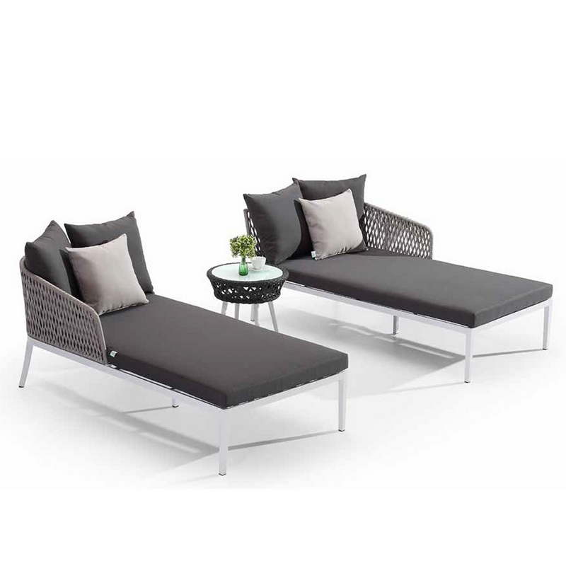 Double Outdoor Rattan Lounge Furniture Chair Set