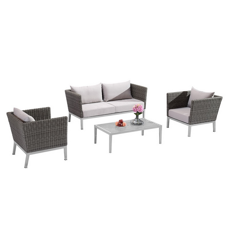 3 Seater Rattan Outdoor Sectional Sofa Set