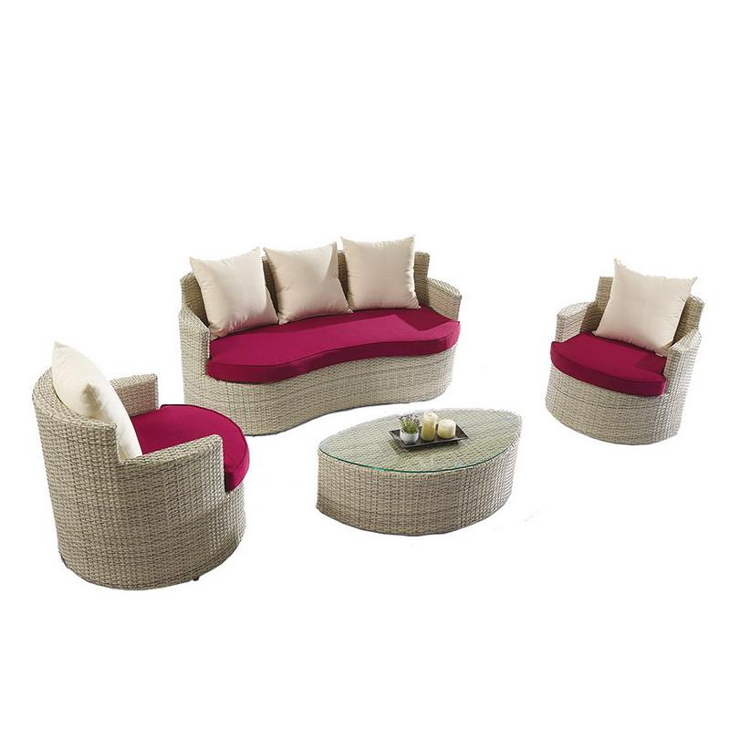 Small 2 Seater Corner Rattan Garden Sofa Set