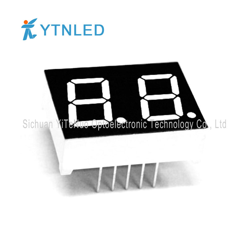 0.5 inch 2 digit red 7 Segment LED display, digital tube