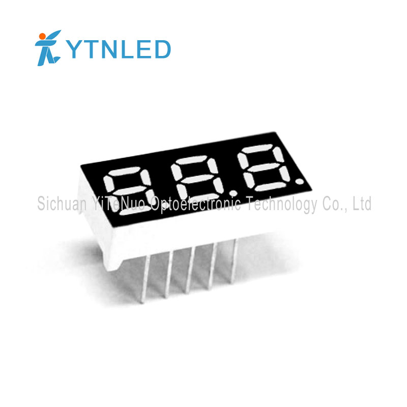 0.28 inch red 3 digit 7 Segment LED display, digital tube