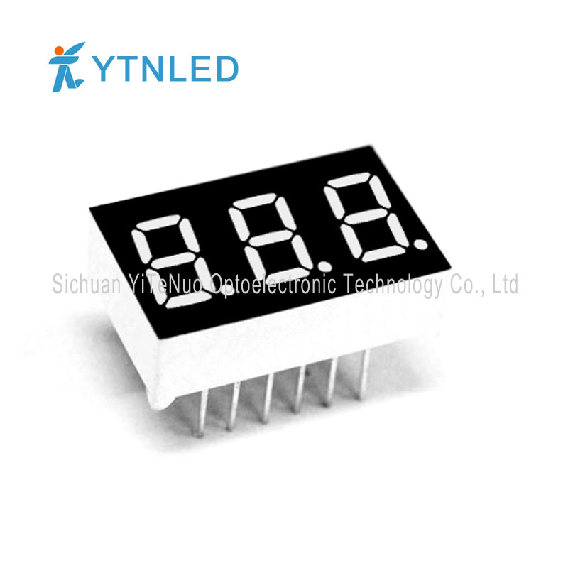 0.36 inch red 3 digit 7 Segment LED display, digital tube