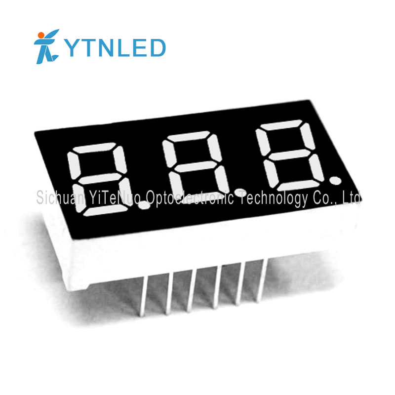 0.4 inch red 3 digit 7 Segment LED display, digital tube