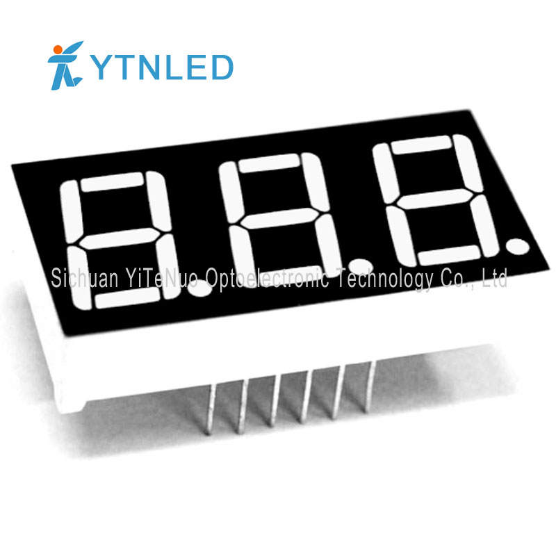 0.56 inch red 3 digit 7 Segment LED display, digital tube