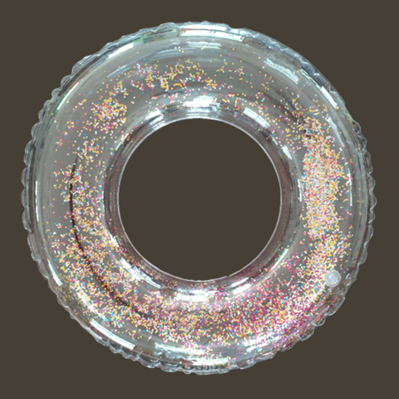 Inflatable Transparent Glitter Pool Swim Ring For Kids