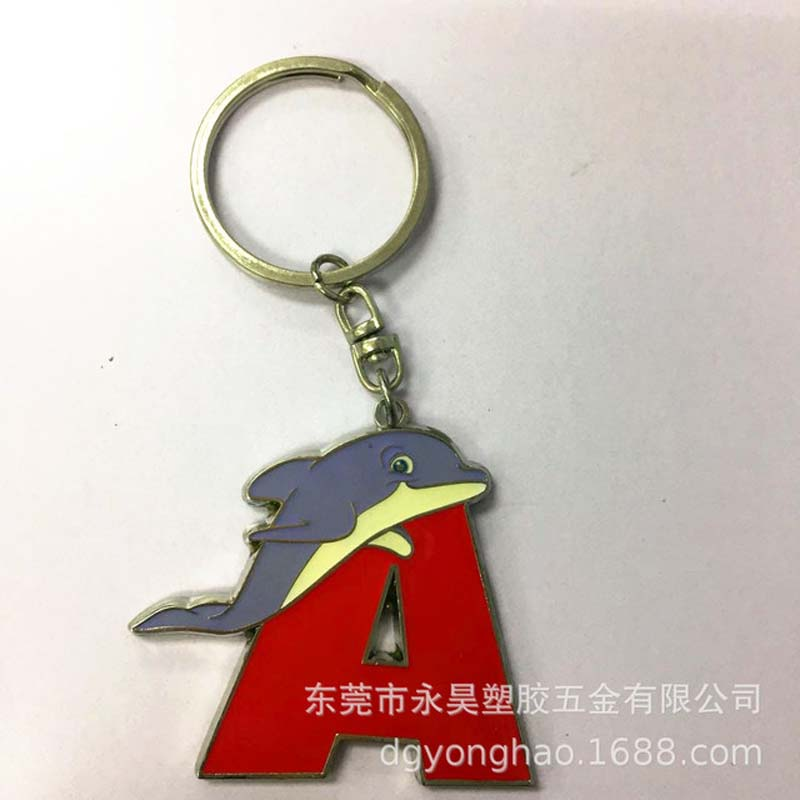 P058 dolphin  key chain