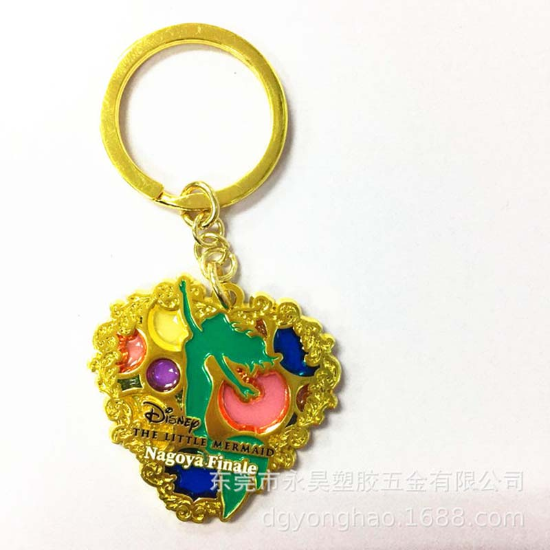 P063 heart key chain jelly paint
