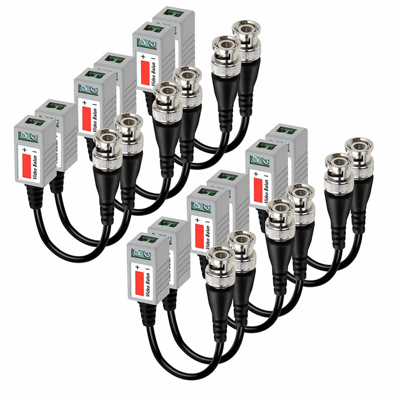 Mini CCTV BNC Video Balun Transceiver Cable