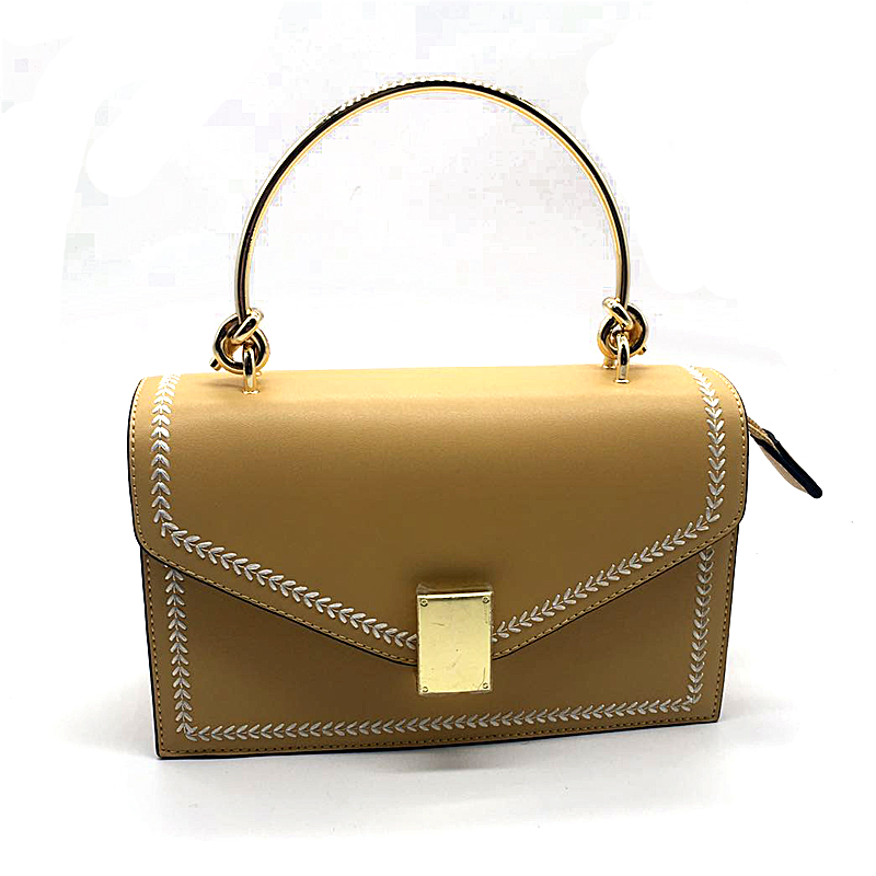 Wholesale Lady handbag with Metal Buckle  guangzhou leather factory   totebag
