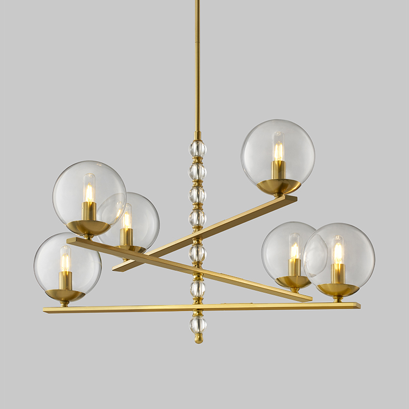 Modern Art Design Living Room Fashion Glass Ball Chandelier Km2131