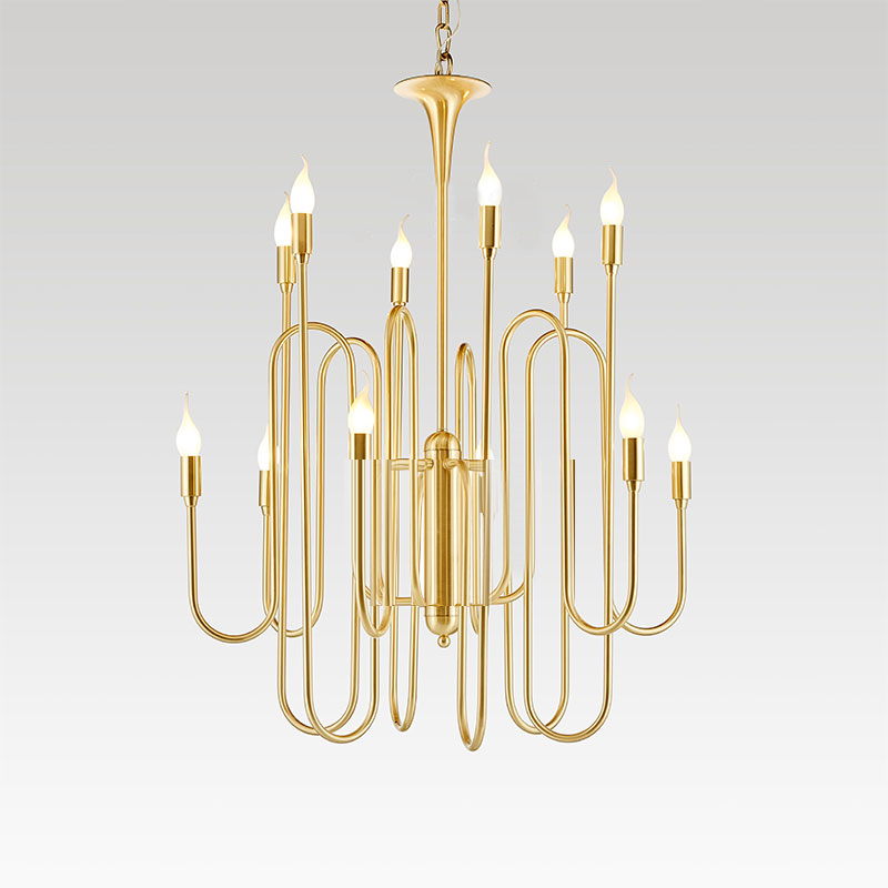 Simple Nordic Creative Iron Hotel Home Chandelier Km2124