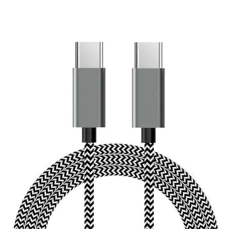 Type-C to Type-C Nylon briaded data cable