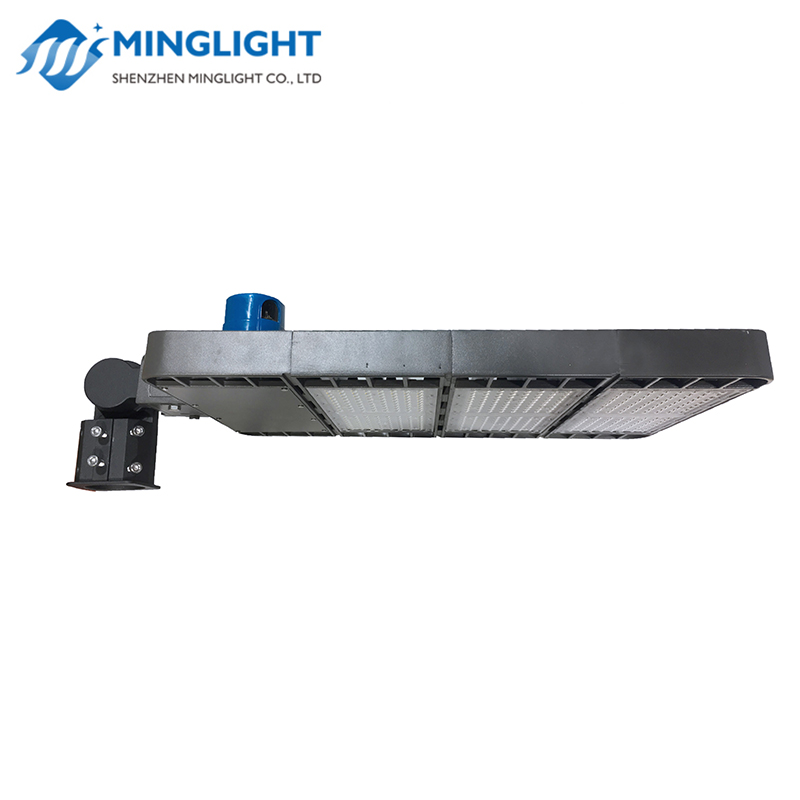 DLC ETL listed  led parking lot shoebox light 4 types brackets IP66 pole street lighting