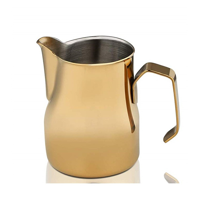 3 capacities stainless steel and colorful Italian style Milk Frothing Pitcher for latte art