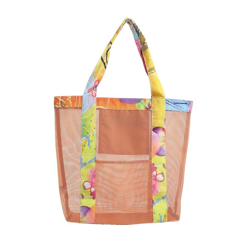 Fasion PVC mesh shopper bag with  innder zipper pocket