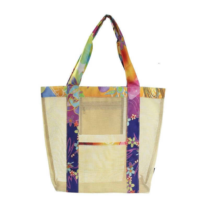 Wholesale promotional custom PVC mesh shopper bag