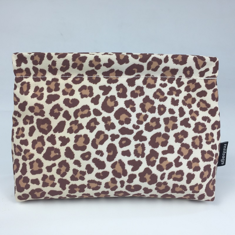 Leopard painting RPET material cosmetic bag