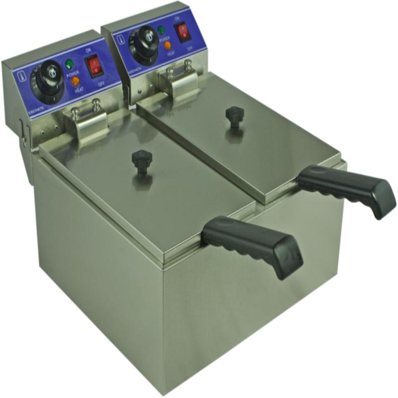 electric fryer two tank