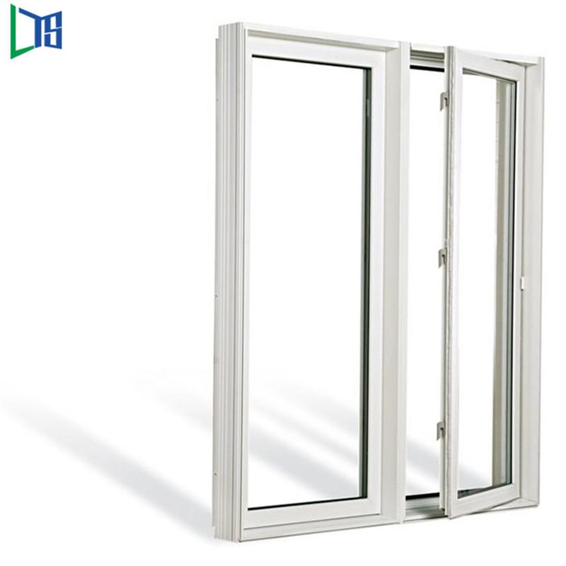 Aluminium casement windows swing windows with powder coating finished single ro double glazing