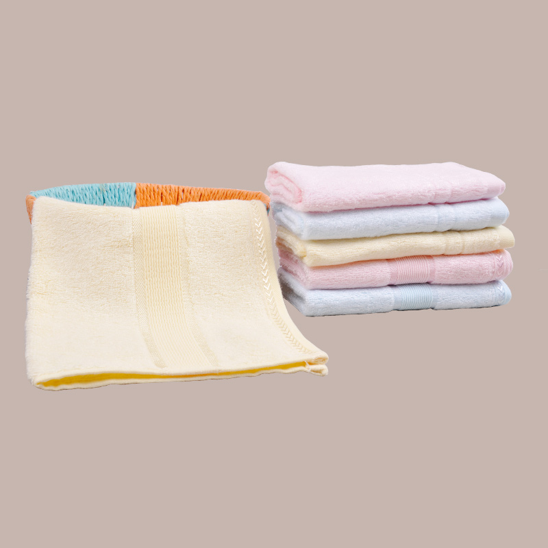 Bamboo Solid Satin Home Furnishing Towel Set