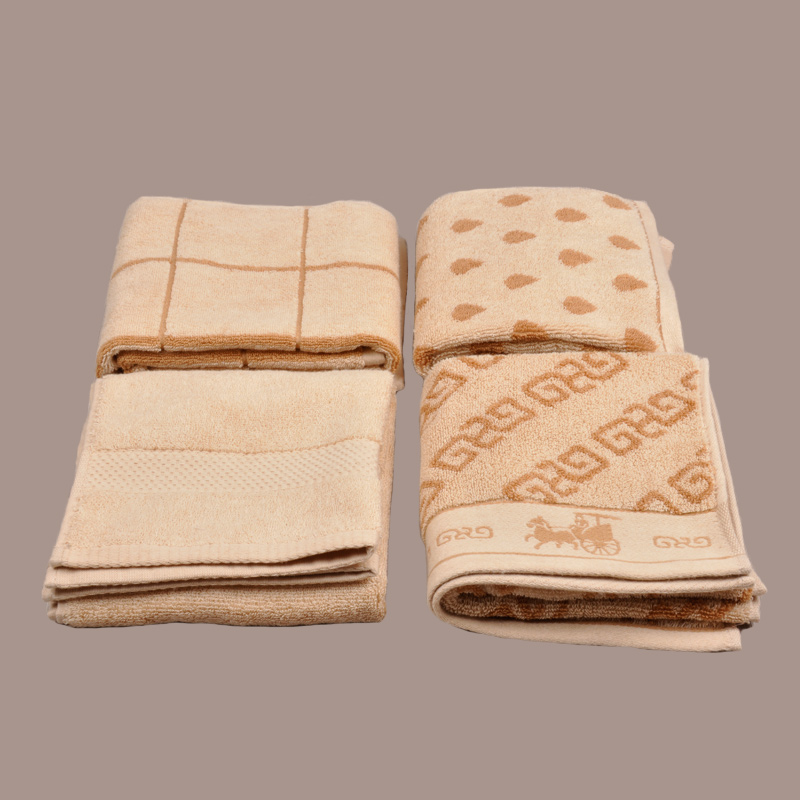 Natural Coloured Cotton Jacquard Hand Towel
