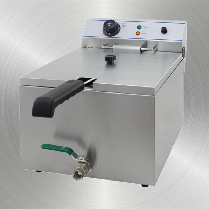 Electric Fryer with Valve single tank