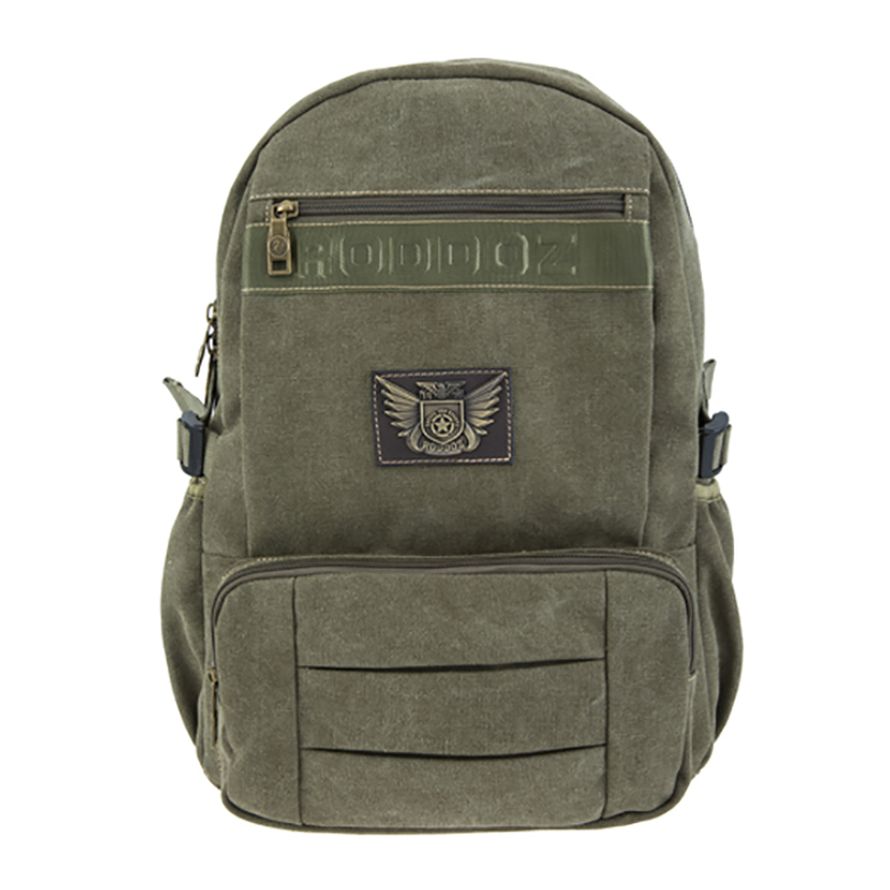 18SC-6805D New Design Army Green Preppy Style Travel Backpack Multifunctional Student Canvas Bag Backpack